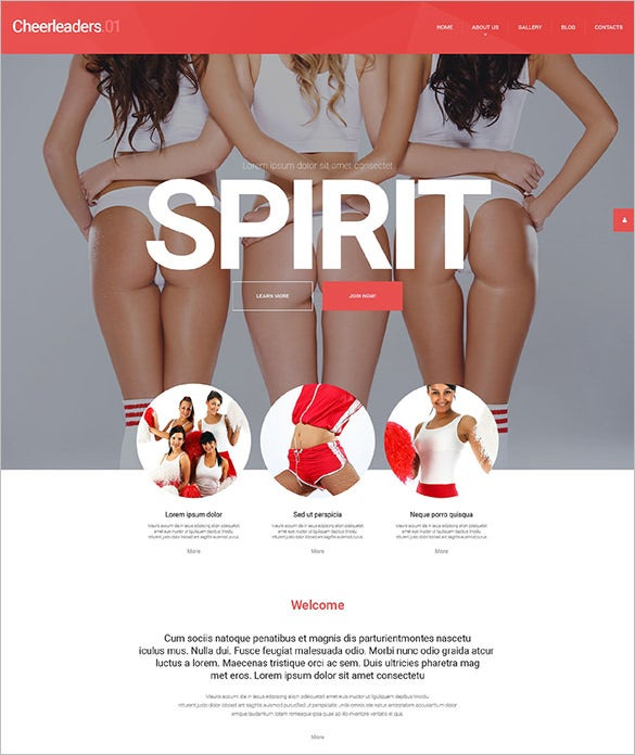 cheerleading team wordpress theme