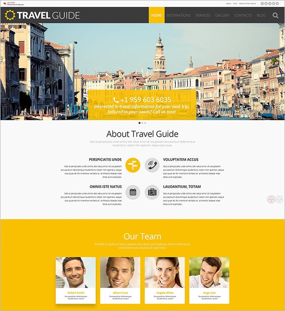 travel guide wordpress theme