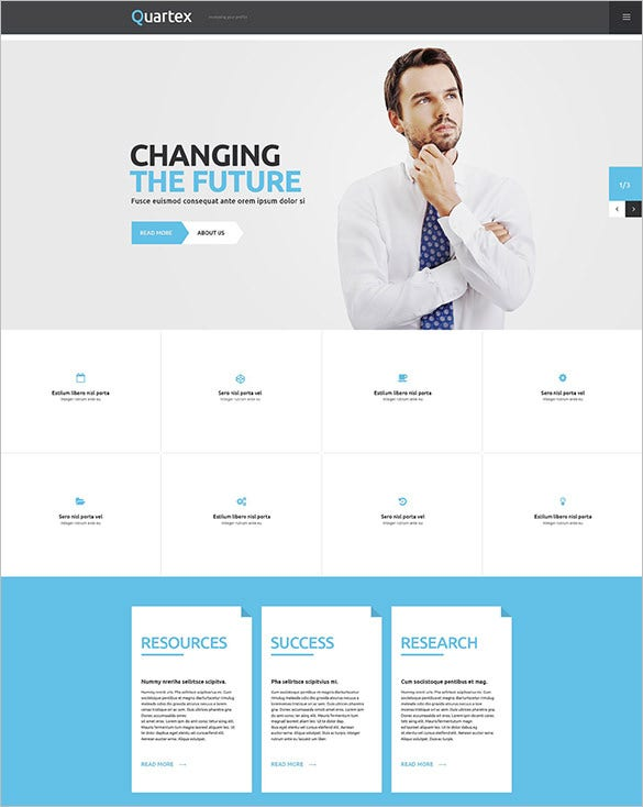 minimalist business responsive wordpress theme