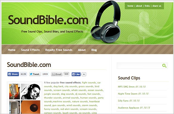 soundbible website for free sound effects