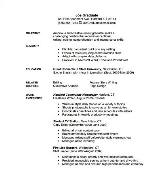 freelance writer resume pdf free download