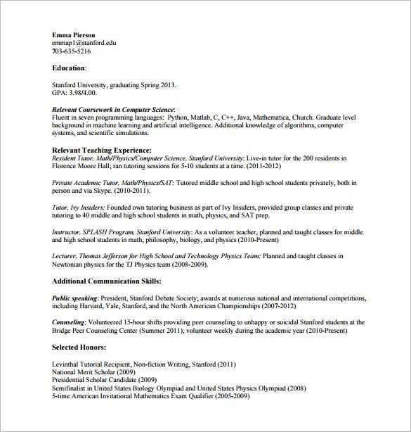 tutor resume template 11 free word excel pdf format