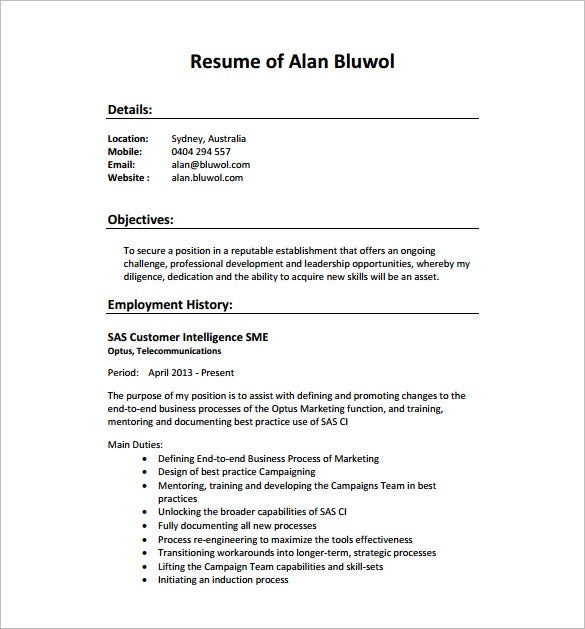 seo executive resume template 12 free word excel pdf