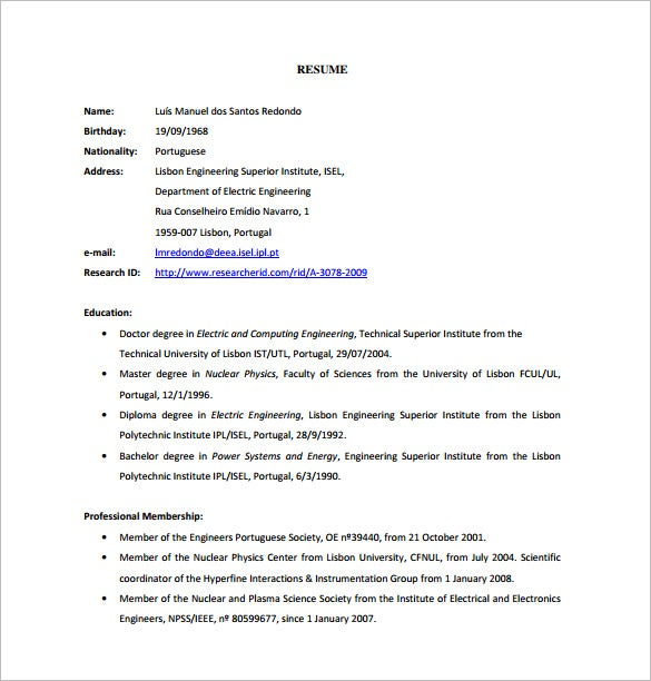 ppc cordinator resume free pdf download