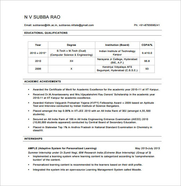 Computer Programmer Resume Free PDF Download