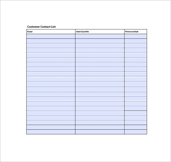 Contact list template 19 free sample example format for Telephone extension template