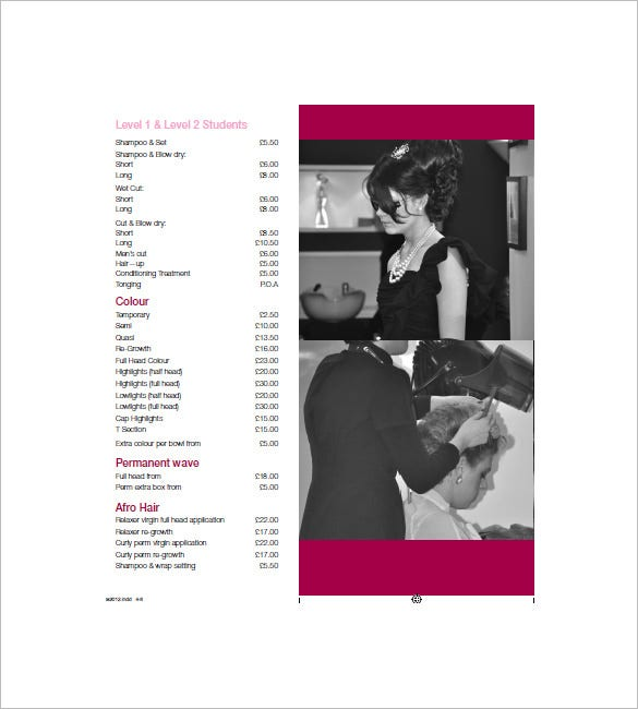 Price List Template   Free Sample Example Format Download