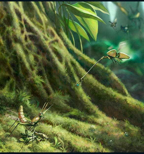 brilliantly insects designed digital illustration