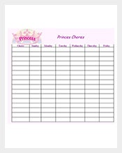 Sample-Weekly-Chore-List-Template