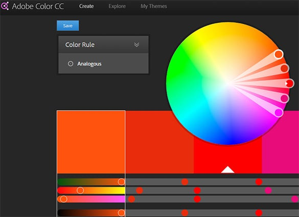 adobe color cc tool for color scheme palette