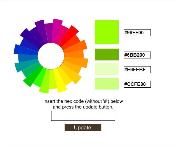 the color wheel tool for color scheme palette