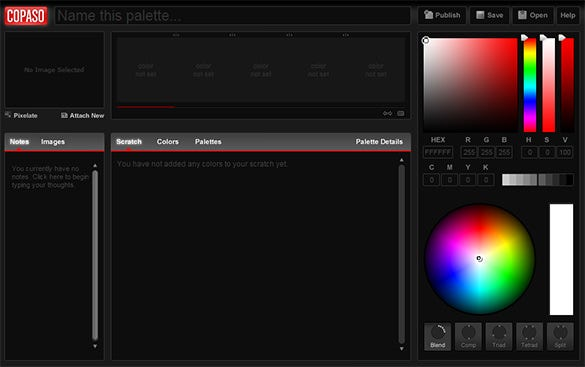copaso tool for color scheme palette