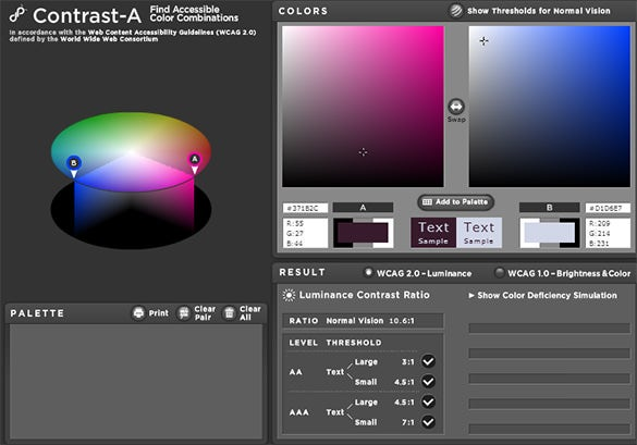 contrasta tool for color scheme palette