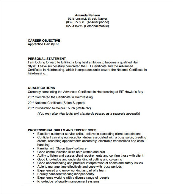 hairdressing apprenticeship cover letter writefiction581