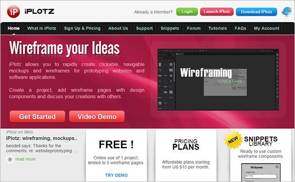 iplotz tool for wireframe design