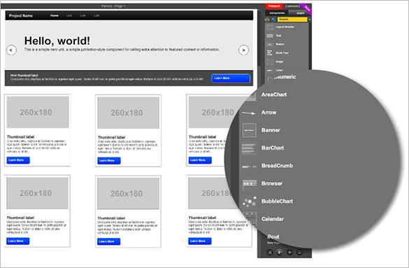 mockflow tool for wireframe design