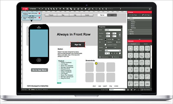 uxpin tool for wireframe design