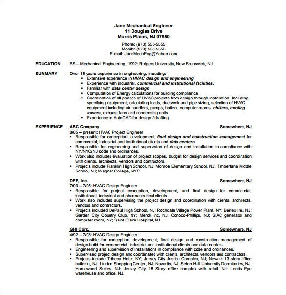 resume for an hvac technician make sure your hvac technician resume