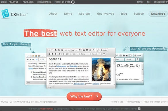 ckeditor online text editor for free
