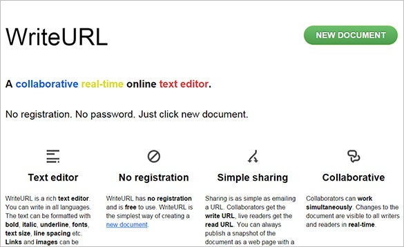collaborative real time online text editor