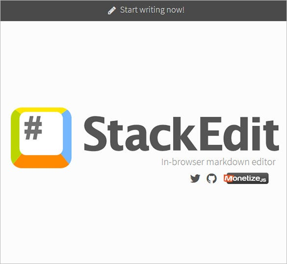 stackedit online text editors for free