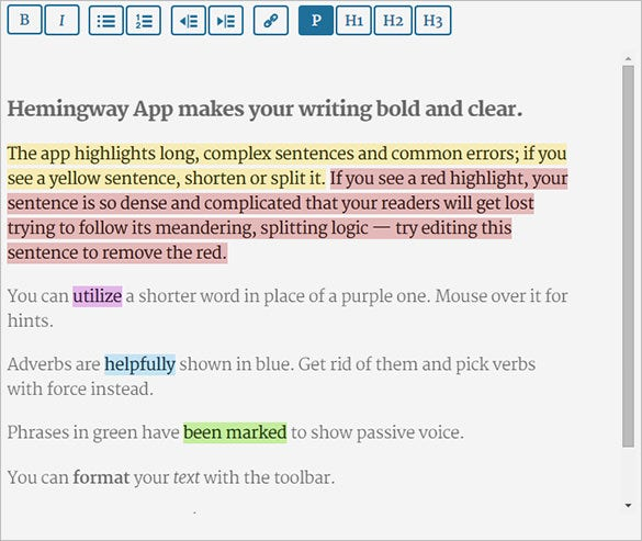 hemingway online text editor for free
