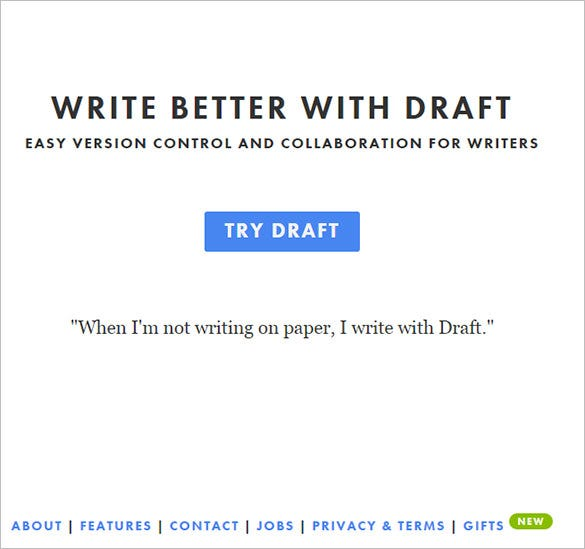draftin online text editor for free
