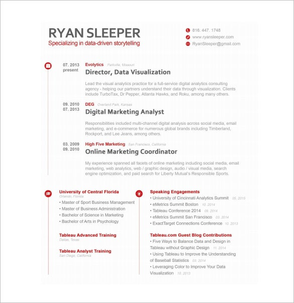 Marketing Analyst Resume Template   Free Word Excel Pdf