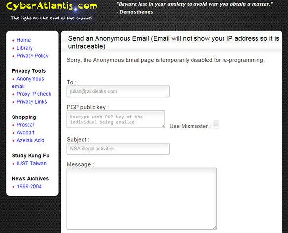 Cyber-Atlantis-Anonymous-Email-Sender