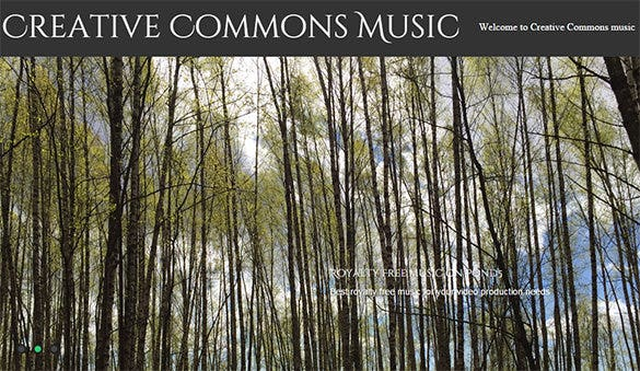 Website-For-Creative-Commons-Music