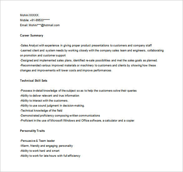 marketing analyst resume template 10 free word excel