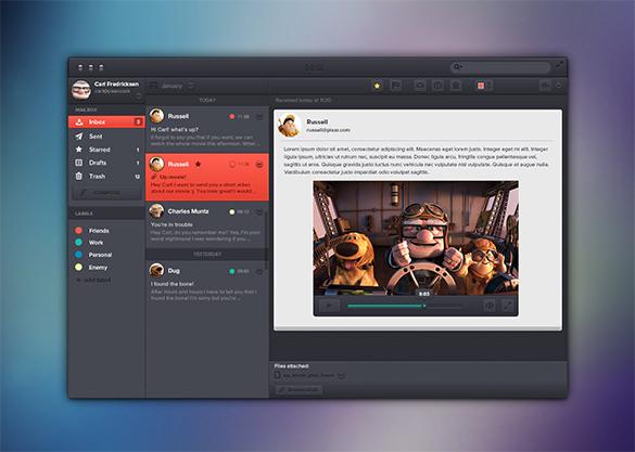 email app concept ui design