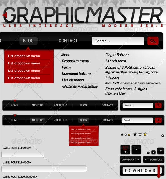 modern graphicmaster ui design download