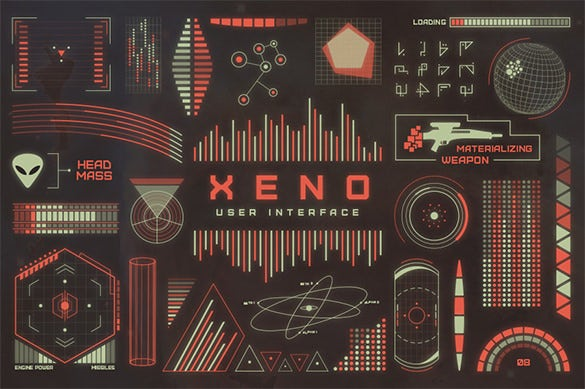 xeno ui design eps download