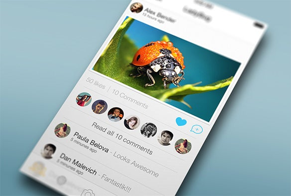 photo app ui design psd download