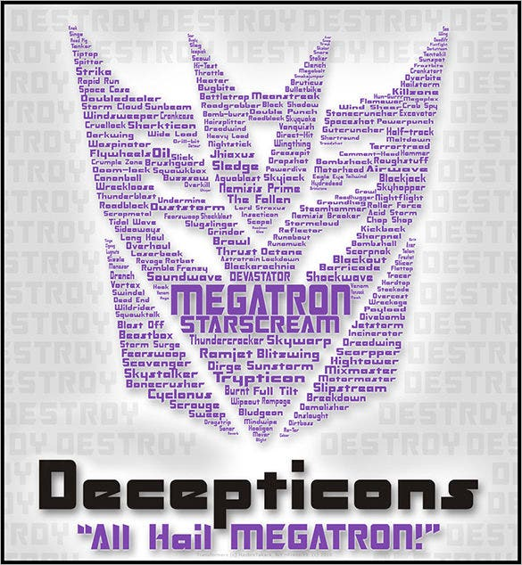 typography all hail megatron design