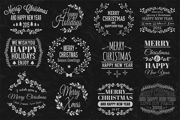 christmas typographic element download