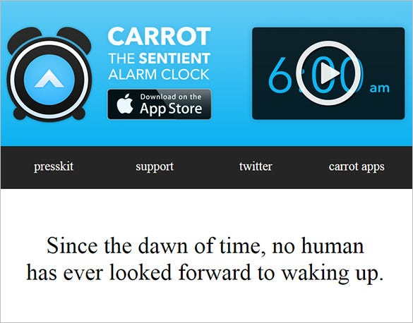 carrot alarm clock app