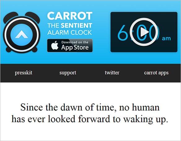 carrot alarm clock app
