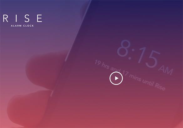 rise alarm clock app