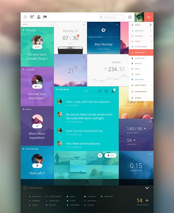 download panels dashboard design