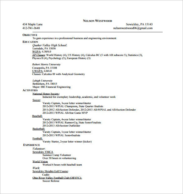 6 Golf Caddy Resume Templates