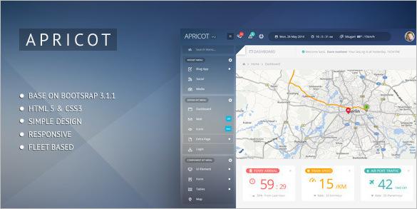 apricot navigation admin dashboard design