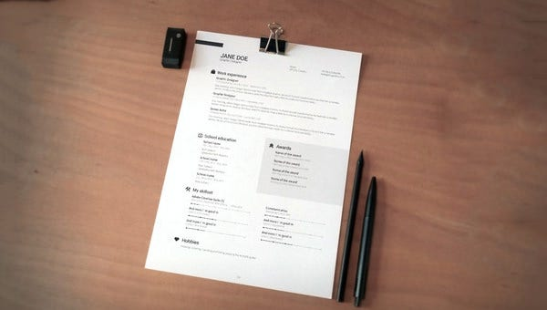 golf caddy resume template