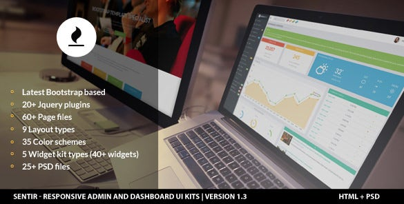 responsive admin and dashboard ui design kit