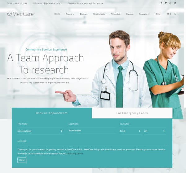 advanced health medical wordpress theme