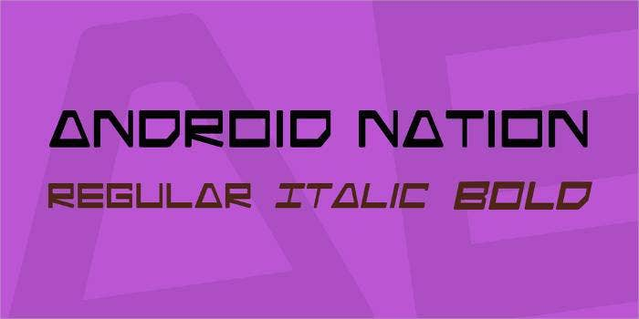 android nation font family1