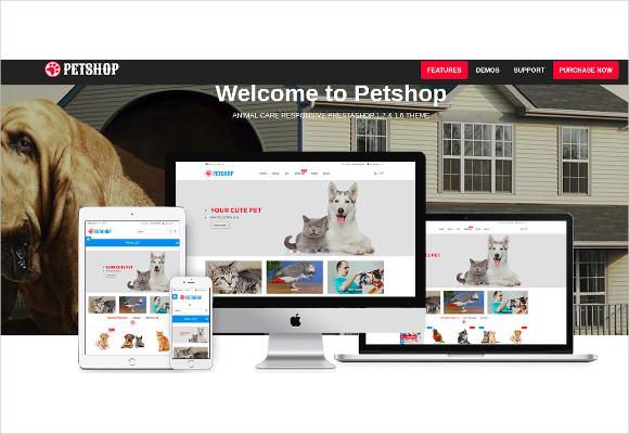 animal care responsive prestashop theme