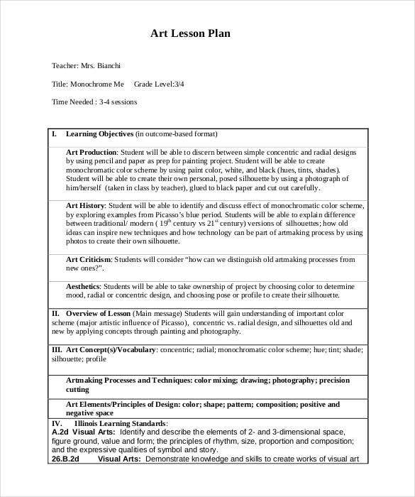 Lesson Plan Template Free Word Excel PDF Format Free - Project based learning lesson plan template