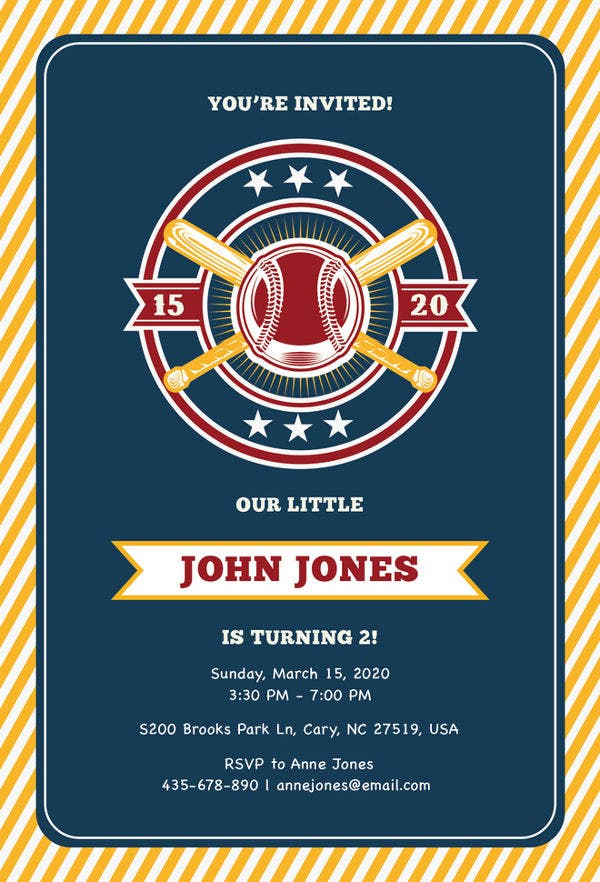baseball invitation template